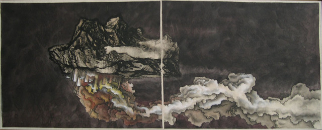 , 'Drifting Metropolis painting,' 2008, Jeanne Bucher Jaeger