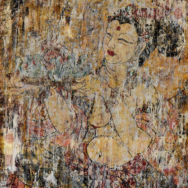 , '观音持果图Avalokitesvara  Holding Fruit,' ca. 2016, Hangzhou Calligraphy and Painting Society