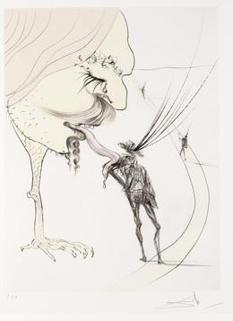 Salvador Dalí, 'Picasso:  Un Billet Pour la Glorie from Apres 50 Ans du Surrealisme', Dallas Museum of Art