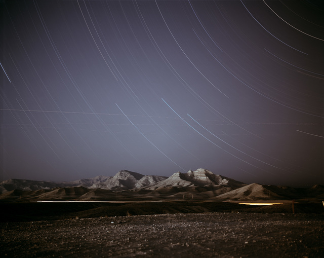 Richard Misrach, 'Night Landscape Near Nellis Air Force Base', 1999, Pace/MacGill Gallery