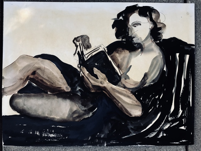 , 'Reclining Reader,' 2017, Gallery 4 West