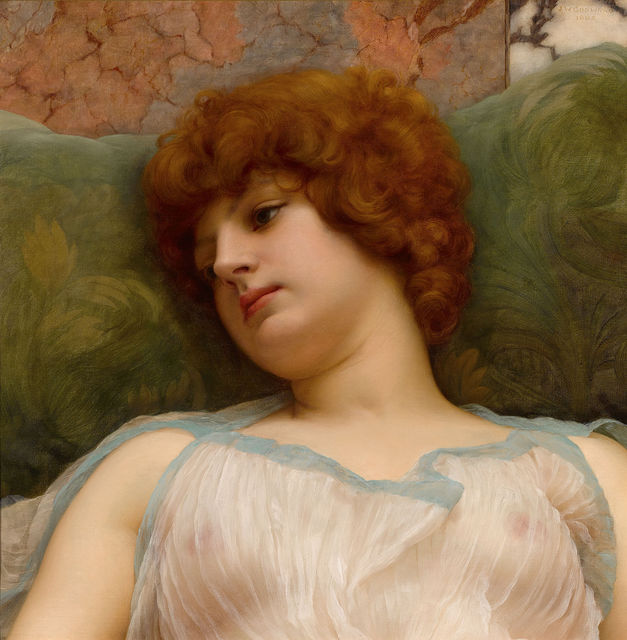 John William Godward, 'Idle Moments', ca. 19,  M.S. Rau Antiques