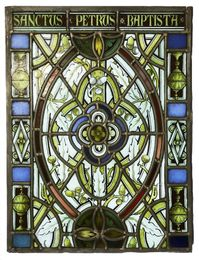 A stained glass panel