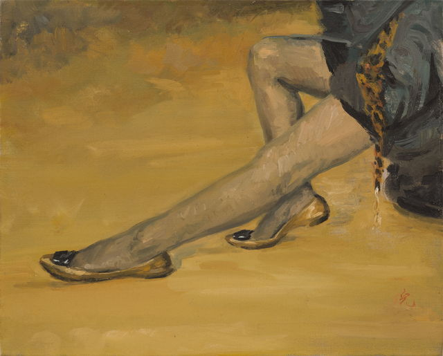 Ni Jun, 'Leopard Scarf 豹纹围巾  ', 2010, Painting, Oil on canvas 布面油画, PIFO Gallery
