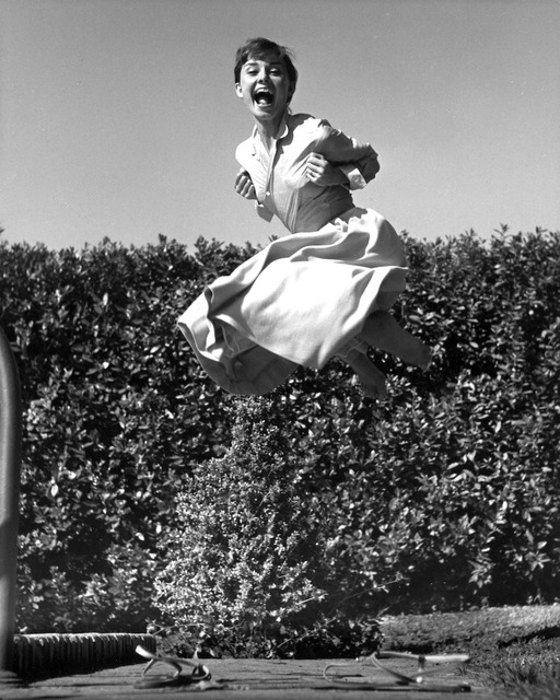 Philippe Halsman, 'Audrey Hepburn, jump series / Vintage Print ', ca. 1954, °CLAIR Galerie