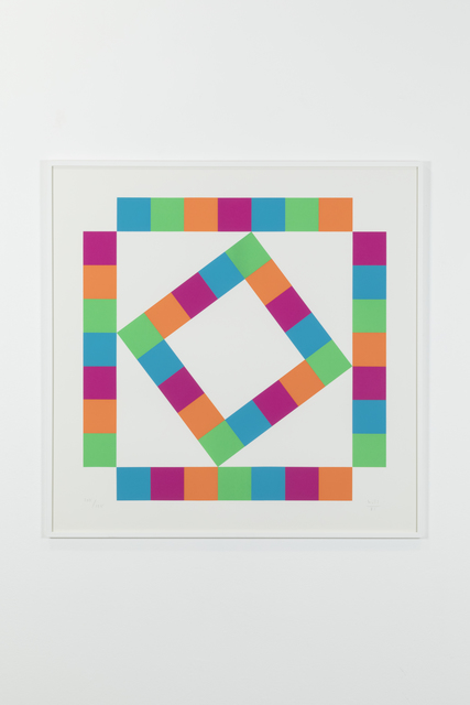 , 'Organization of 44 colored squares, 105/125,' 1980, Galerie Denise René