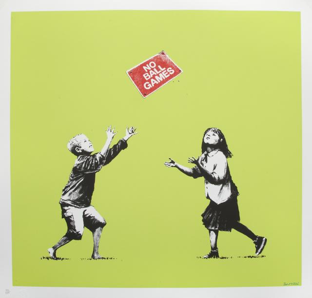 Banksy, 'No Ball Games (Green)', 2009, Julien's Auctions
