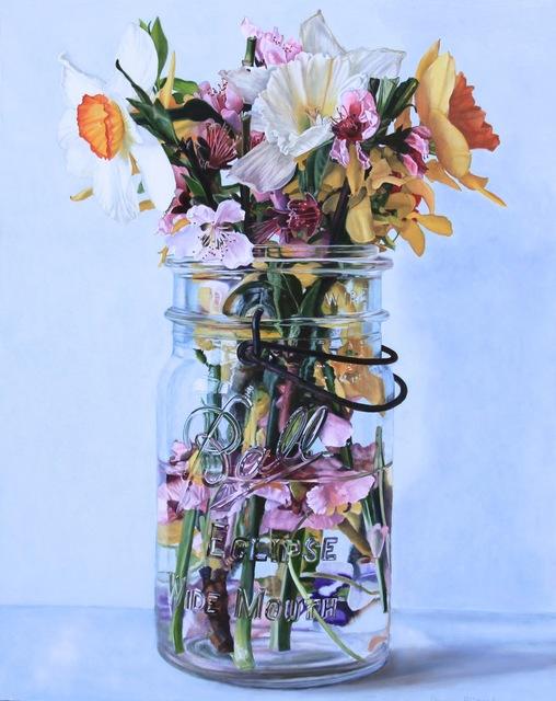 Peggie Blizard, 'Pink Flowers in Water', 2019, George Billis Gallery