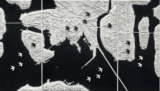 Clement Kamena, 'Migration 1 Triptych', 2017, Gilles Clement Gallery