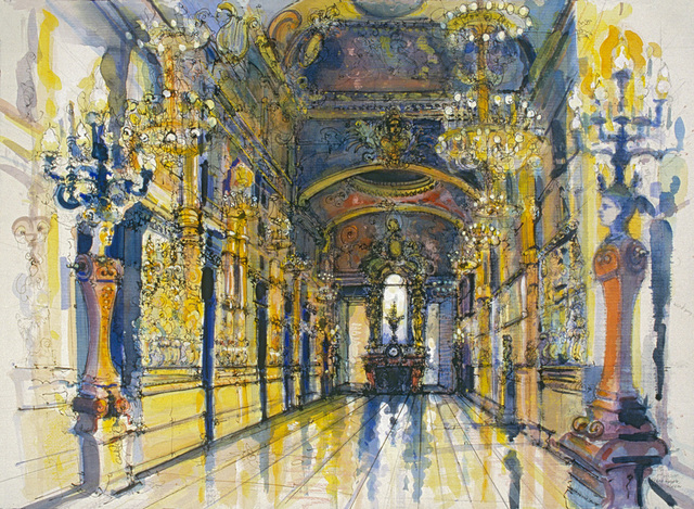 , 'Grand Foyer, Paris Opera (Second Version),' 1987, Koplin Del Rio