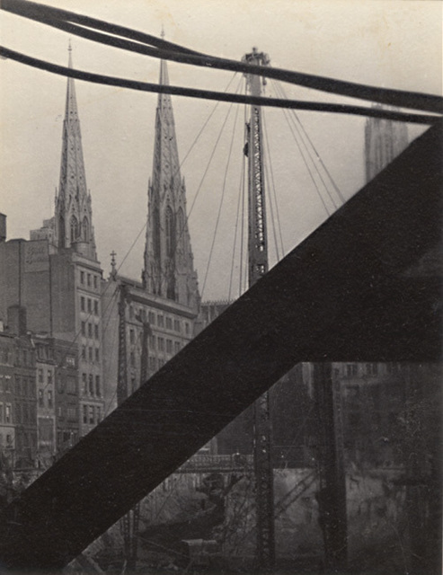 Dorothy Norman, 'Church and Crane (St. Patrick's Cathedral), New York City, NY', 1932/1932, Contemporary Works/Vintage Works