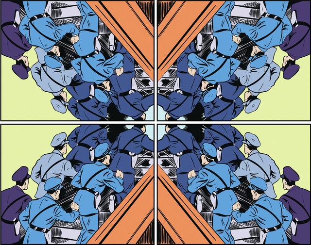 , 'Cop Kaleidoscope ,' 2016, InLiquid
