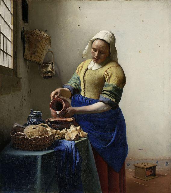 Johannes Vermeer, 'The Milkmaid,' 1658-1660, Rijksmuseum