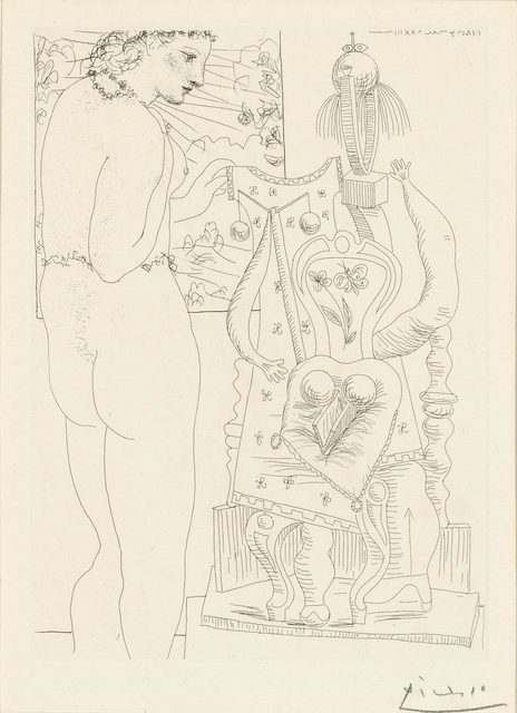 Pablo Picasso, 'Marie-Thérèse Considérant Son Effigie Surréaliste Sculptée (B. 187)', 1933, Doyle