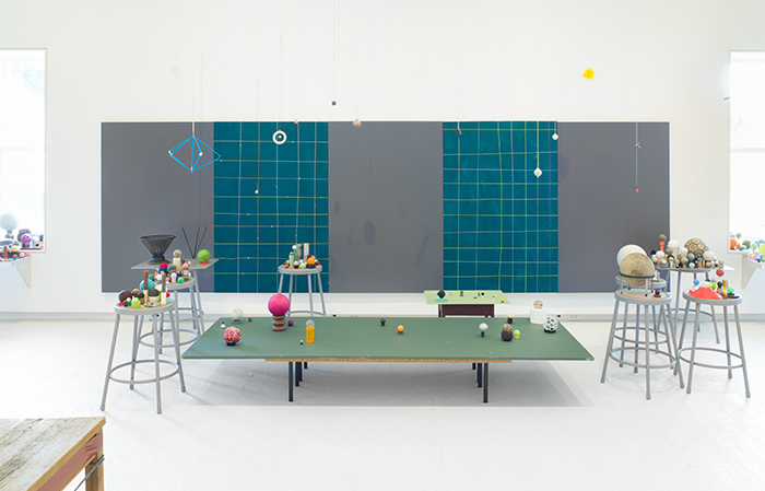 Almost Everything on the Table (installation view), May 20, 2018 to January 13, 2019. The Aldrich Contemporary Art Museum, Ridgefield, CT. Photo: Jason Mandella.