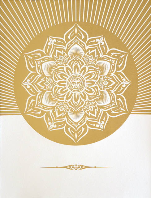 Shepard Fairey, 'Obey Lotus Diamond  (White & Gold)', 2013, Artsnap