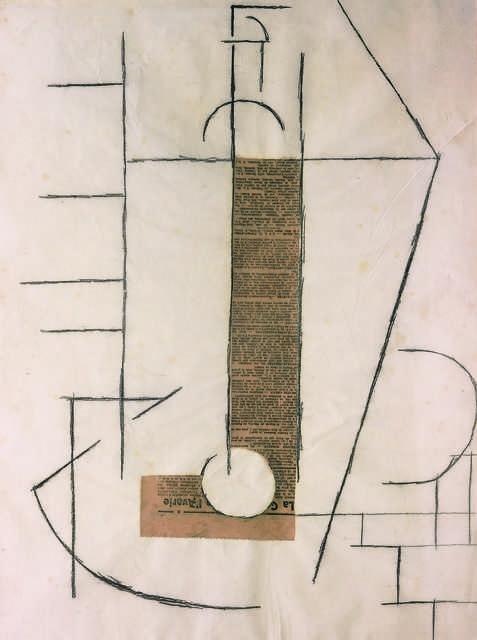Pablo Picasso, 'Bouteille sur une table (Bottle on a Table)', 1912, Fondation Beyeler
