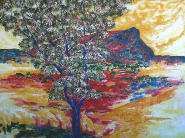 Michael Price, 'Chromatic Spaces No. 7, Blue Tree and Mont Sainte-Victoire', 2011, Walter Wickiser Gallery