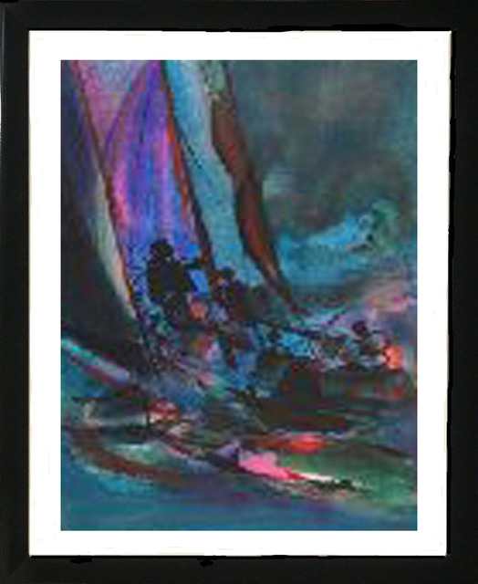 Marcel Mouly, 'Marine Bleue', 1988, Print, Lithograph on Arches Paper, Baterbys