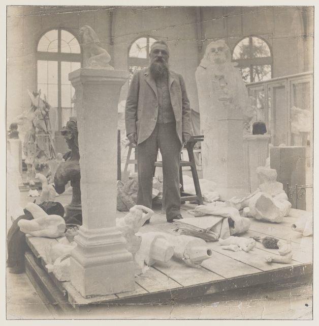 , 'Rodin au milieu de ses œuvres dans le Pavillon de l'Alma à Meudon (Rodin among his works at the Pavillon de l'Alma),' c. 1902, Musée Rodin