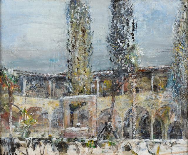 , 'San Augostino Courtyard in the Snow,' 2018, Valley House Gallery & Sculpture Garden
