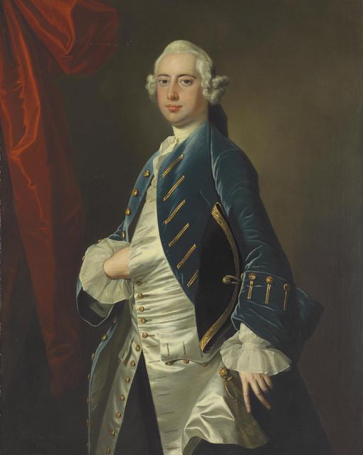 Thomas Hudson, 'Portrait of a gentleman, three-quarter-length', 1749, Christie's Old Masters