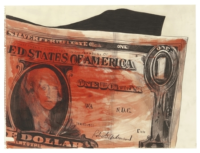 Andy Warhol, 'One Dollar', Watercolor and graphite on paper, Christie's