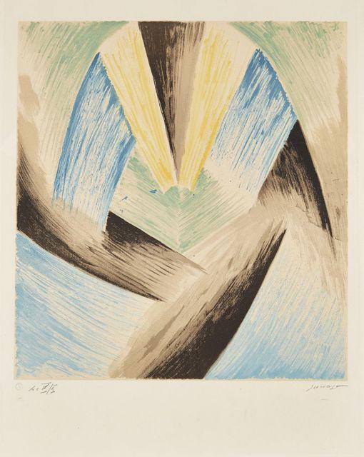 Leopold Survage, 'Coloured Rhythms II (Blue-Green)', 1968, Roseberys