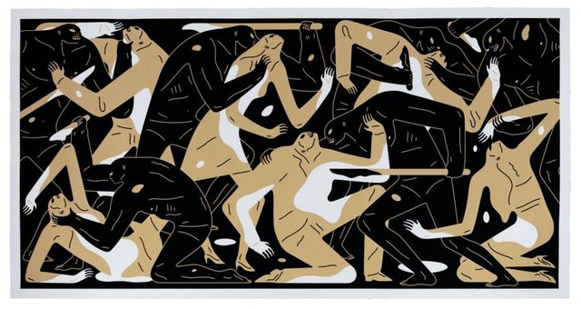 Cleon Peterson, 'Poison in the Mind (Gold)', 2019, New Union Gallery