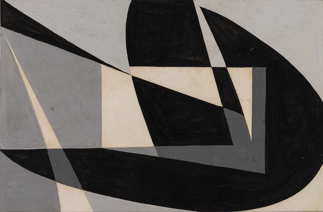 ", 'Macquette ""Composicion Abstracta en Negro"",' 1950, The Mayor Gallery"