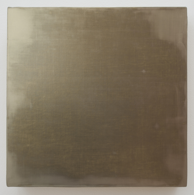 ", '""V"" Gold,' 1992, Haines Gallery"