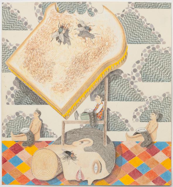 , 'Head Portrait (toast),' 2014, P.P.O.W