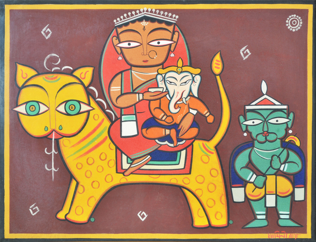 , 'Shiva, Durga and Ganesh,' , Swaraj Art Archive