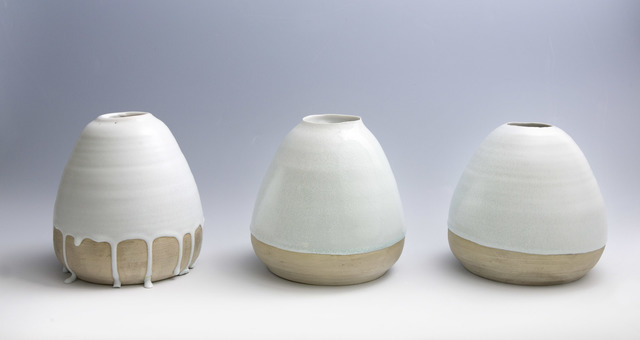 Keiji Ito, 'White Jar - Set of three', 1990-1999, Ippodo Gallery