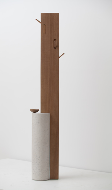 Claudia Moreira Salles, 'Stand By Coat Hanger', 2016, Design/Decorative Art, Wood and concrete, The Glass House Benefit Auction