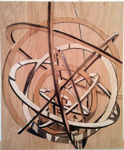 , 'Fragmento sobre madera nº9,' 2014, Espacio Mínimo