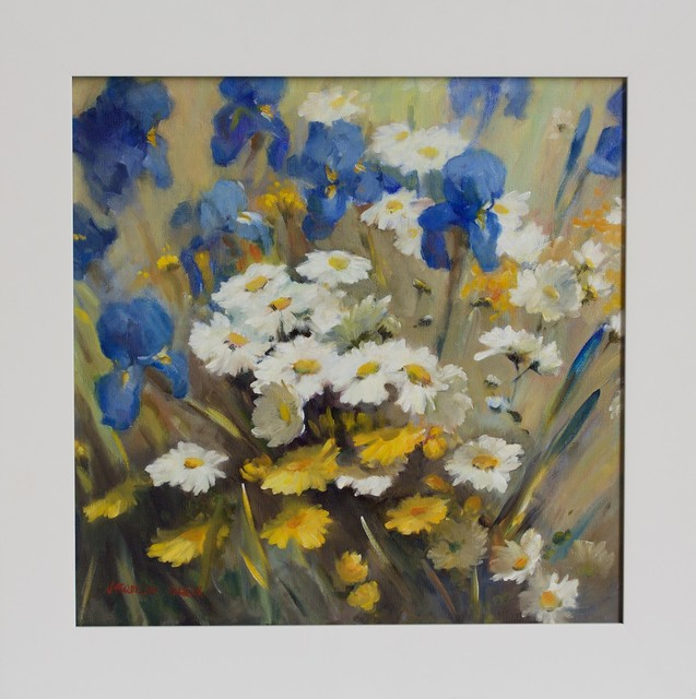 , ''Daisies and Irises',' 2014, Wentworth Galleries