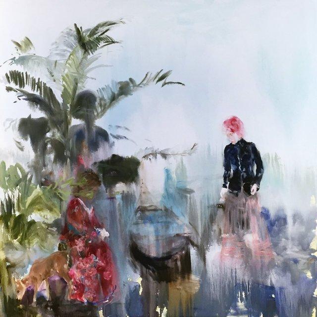 , 'Kissing Trees (Whtie Gloves),' 2018, Bau-Xi Gallery