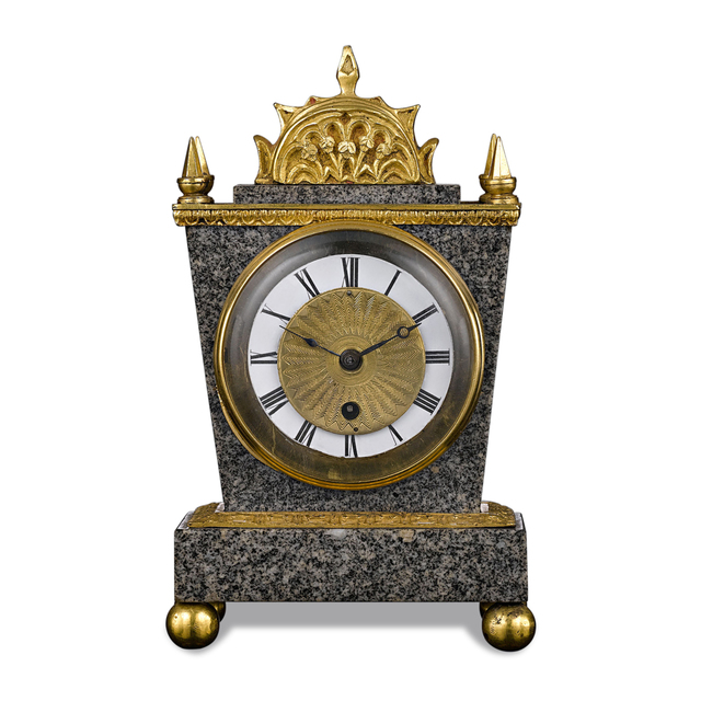 , 'ENGLISH PORPHYRY CLOCK BY ELLICOTT,' ca. 1820, M.S. Rau Antiques