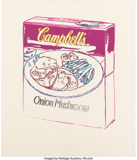 Andy Warhol, 'Campbell's Soup Box (Onion Mushroom)', 1986, Print, Synthetic polymer paint and silkscreen ink on canvas, Heritage Auctions