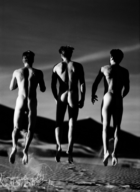 , '3 Boys Jumping  : Kelso Dunes,' 1991, Lumiere Brothers Gallery