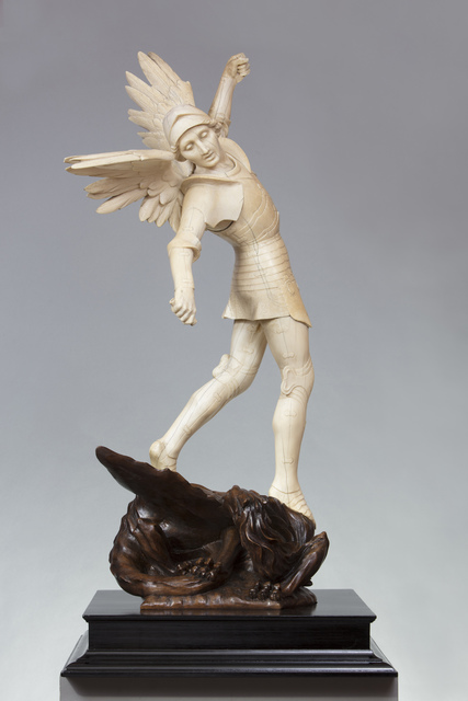 , 'THE ARCHANGEL MICHAEL DEFEATING THE DRAGON,' ca. 1897, Brun Fine Art
