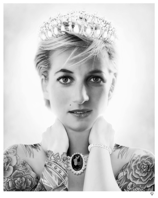JJ Adams, 'Princess Diana (black & white)', 2014, Reem Gallery