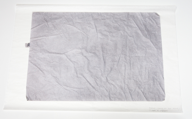 , 'Untitled (Drawing for Two Objects), 3 sheets of silk paper,' 2014, OSL Contemporary