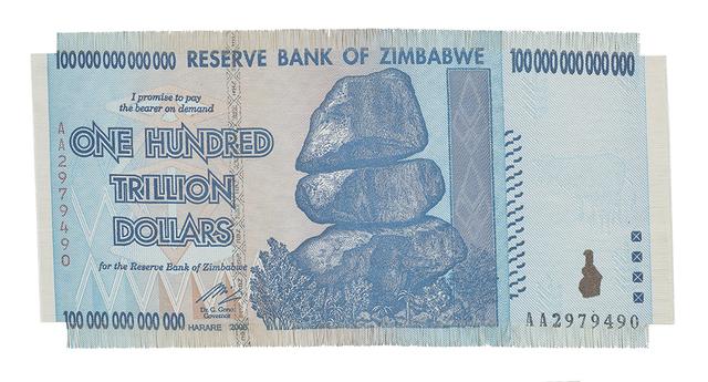 , 'Z$100 Trillion,' 2017, Dillon + Lee