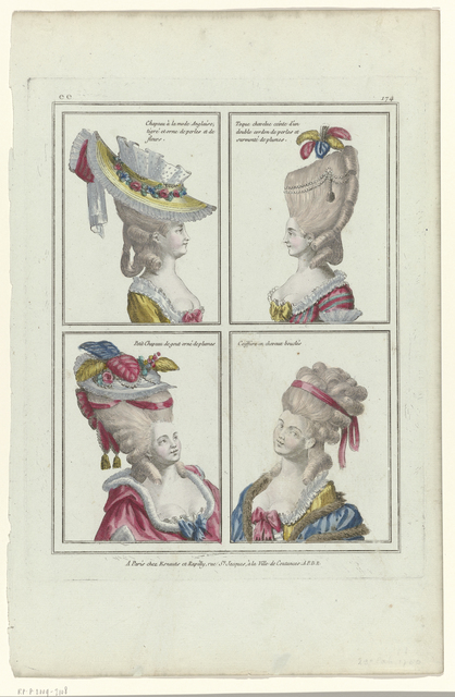 , 'ee 174: Chapeau à la mode Anglaise (ee 174: Hats in the English Style),' 1780, Rijksmuseum