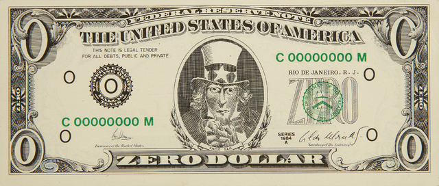 Cildo Meireles, 'Zero Dollar', 1978-1984, Phillips