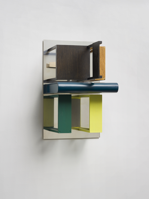 , 'Double Mirrors (With Yellow & Green),' 2013, Kristof De Clercq