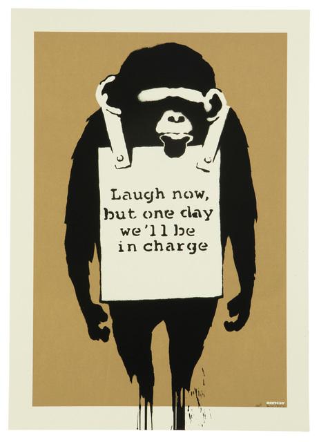 Banksy, 'LAUGH NOW', 2004, Print, Screenprint in colors on wove paper under Plexiglas, John Moran Auctioneers