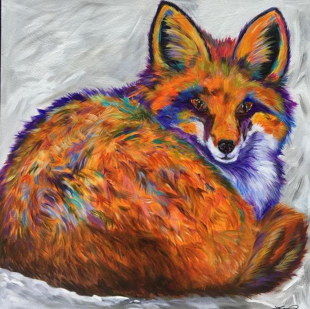 , 'Resting Fox,' 2018, SmithKlein Gallery